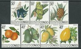 Congo N° 359 / 65 XX  Fruits Du Congo.  Les 7  Valeurs Sans Charnière, TB - Congo - Brazzaville