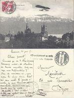Lausanne - Aéroplan, Cathédrale, Alpes De Savoie          1911 - VD Vaud