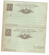 CLA468 - CARTOLINA POSTALE PER L'ESTERO INTERO POSTALE CENTESIMI 10 DOPPIA CARTOLINA - 1900-44 Vittorio Emanuele III