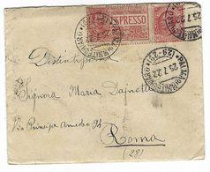 CLA470 - STORIA POSTALE DA PALMA MONTECHIARO AGRIGENTO A ROMA 1922 CON LETTERA ALL INTERNO ESPRESSO SOVR CENT 60 - 1900-44 Vittorio Emanuele III
