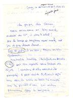 Lettre Manuscrite 1977 Jouy Papa Maman Famille Tiky Danielle - Manuscrits