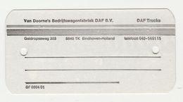 Label SF 0304 01 Van Doorne's Bedrijfswagenfabriek DAF B.V. Eindhoven - Camions