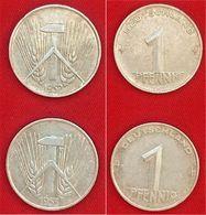 2 Stück - DDR 1Pfg 1952 | 1953 | Präge A - [ 6] 1949-1990 : RDA - Rép. Démo. Allemande