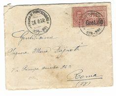 CLA473 - STORIA POSTALE DA PALMA MONTECHIARO AGRIGENTO  A ROMA 1922 CON LETTERA ALL INTERNO ESPRESSO CENT 60 - 1900-44 Vittorio Emanuele III