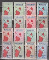 Madagascar PA N°(yt) 25 à 40  Neufs **/*tc - Madagascar (1889-1960)