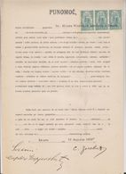 SLOVENIA, Yugoslavia Serbia Zemun Stamps Used Instead Taxe Revenues 1919 Document - Slovenia