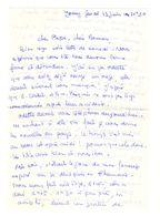 Lettre Manuscrite Jouy Papa Maman Famille Pasquier Arnal Vilizy Oz - Manuscrits