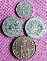 ALGERIJE / Lot Van 4 /2 CENT.s 1964+6 CENT.s 1970 En '74 +1 DINAR 1972 KM  104.2  Bijna UNC - Algérie