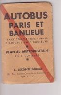 Plan Autobus Paris Et Banlieue (années 1950) - Europa