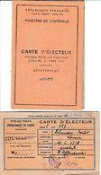 1945/47 - COURTENAY - 2 CARTES D'ELECTEUR (TRICE) Louisa DELAMOUR-BOULET - Documents Historiques
