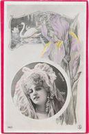 DORGERE Dans Médaillon, Cygne Et Iris Par REUTLINGER - Artistes