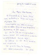 Lettre Manuscrite 1977 Jouy Papa Maman Famille - Manuscrits