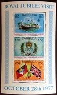 Barbuda 1977 Royal Visit Minisheet MNH - Antigua E Barbuda (1981-...)
