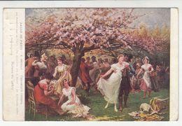 Salon De Paris - E. Deuilly: Les Pommiers Sont En Fleurs Old Postcard Posted 1914 Wien To Fiume B200701 - Paintings
