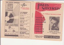Paris Spectacles- 6ème Année - Programmes