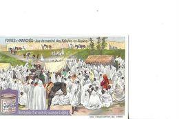 CHROMO  LIEBIG   FOIRES ET MARCHES   MARCHE KABYLE EN ALGERIE FOULE - Liebig