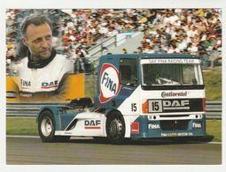 Fotokaart : DAF Trucks Eindhoven DAF FINA Racing Team 15) Hans-georg Von Der Marwitz - Camions