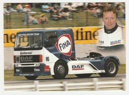 Fotokaart : DAF Trucks Eindhoven DAF FINA Racing Team 16) Richard Walker - Camions