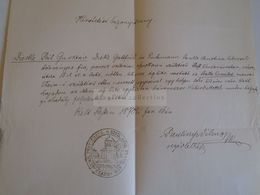 D172595 Old Document - Gustav Diecke -Sprottau - Walla Erzsébet - Thein Moravia - Pest 1870 - Boda