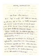 Lettre Manuscrite 1977 Loctudy Papa Maman Famille Quimper Audierre Villaz Ozerailles Billy Bretagne Jouy Dessin Enfant - Manuscrits