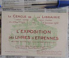 L'exposition Des Livres D'étrennes - Cercle De La Librairie - 1931-1932 - Reclame