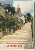 CPM .D. 22, N°152/22 , Lannion ,Accès Par Les 12 Marches à L' église De Brélévenez ,Ed. P. Artaud 1991 - Lannion