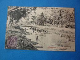 SINGAPORE SINGAPOUR  ROTTAN WASHING    VOYAGEE 1907 TIMBREE - Singapour