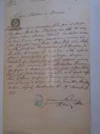 D172598 Old Document - Hungary  SZENTENDRE - 1883  - Michael HINCZER  - Maria JEDLINÁK - Boda