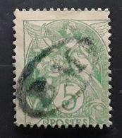 France,  Type Blanc , Yvert No 111 A, 5 C VERT , II B , Obl Cachet BM BOITE MOBILE , Jour De L'an  ? ,  TB - 1900-29 Blanc