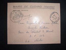 LETTRE MAIRIE OBL.3-12 1969 CUGAND VENDEE (85) - Marcofilia (sobres)