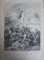 Gravure  1873  EXposition Universelle    De Vienne   LA FORTUNE  ( Tableau   De Achille  Sirony ) - Estampes & Gravures
