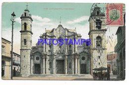 137150 CUBA HABANA THE CATHEDRAL CIRCULATED TO ARGENTINA POSTAL POSTCARD - Cartes Postales