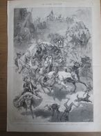 Gravure  1873 ITALIE AVELLINO    Reoute De La Fête   De La Madona-Di-Monte  Virgine - Estampes & Gravures