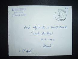 LETTRE OBL.21-7 1964 CUGAND VENDEE (85) G. MASSONNET BOULANGER - Marcofilia (sobres)