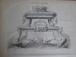 Gravure  1873    La Couronne   Civique Offerte   Par Les Italiens Au Duc D Aoste    EX ROI D ESPAGNE - Estampes & Gravures