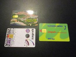 Lot 3 Télécarte Phonecard Croatie - Croatie