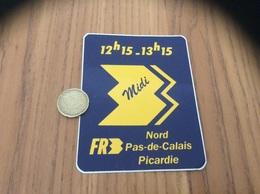 AUTOCOLLANT, Sticker «midi FR3 Nord Pas De Calais Picardie» (télévision) - Aufkleber