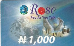 Nigeria, N 1,000, Rose, Pay As You Talk, Expiry : 31/12/2002, 2 Scans. - Nigeria