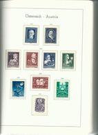 AUTRICHE : Belle Collection Entre 1945 Et 1985, 90% De Neufs **, Dans Album Leuchtturm 125 Pages. Forte Cote. - Timbres