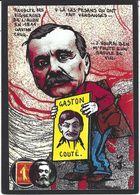 CPM Timbre Monnaie Tirage Limité Numéroté Signé En 30 Exemplaires Gaston Couté - Stamps (pictures)