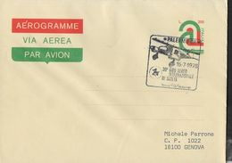 """ITALIA - ANNULLO SPECIALE """" PALERMO CP*15.7.1979* 30° GIRO AEREO INTERNAZIONALE DI SICILIA"""" SU AEROGRAMMA - 6. 1946-.. Repubblica"""
