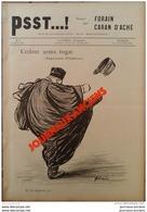 1898 JOURNAL PSST...! N° 3 AFFAIRE DREYFUS - AVOCAT - PROPAGANDE -  EMILE ZOLA -  CARAN D'ACHE - FORAIN - 1850 - 1899