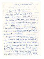 Lettre Manuscrite 1977 Loctudy Papa Maman Famille Concarneau Billy Annecy - Manuscrits