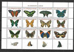 SURINAME 2004 BUTTERFLIES  MNH - Butterflies