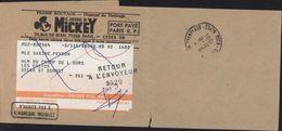 Bande Pour Journal Journal Mickey Port Payé Paris RP Cachet Retour à L'envoyeur 3529 + N'habite Pas à L'adresse Indiquée - Enteros Postales