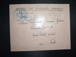 LETTRE MAIRIE OBL.29-12 1970 85 CUGAND VENDEE - Poststempel (Briefe)