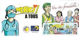 France 2020 - Merci Aux Soignants ** (4 Timbres Adhésifs) - Frankreich