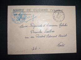 LETTRE MAIRIE OBL.12-1 1972 85 CUGAND VENDEE - Poststempel (Briefe)