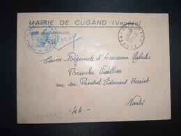 LETTRE MAIRIE OBL.12-1 1972 85 CUGAND VENDEE - Marcofilia (sobres)