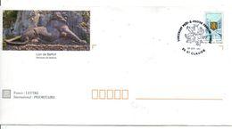 1 ER JOUR PAP LION DE BELFORT FRANCHE COMTE 1997 - Poststempel (Briefe)